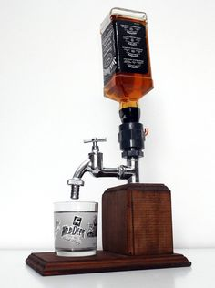 Handmade Wooden alcohol dispenser / liquor dispenser / whiskey dispenser / mens gift, anniversary gifts / wedding gifts / corporate gifts