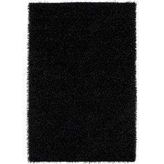 "The Conestoga Trading Co. Hand-Tufted Black Area Rug Rug Size: 3'6"" x 5'6"""