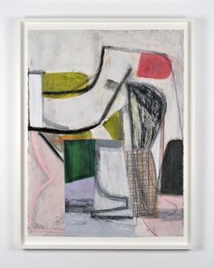"""A Shape That Stands Up and Listens by eminent New York artist Amy Sillman ran back in 2012 at Campoli Presti. The title comes from a quote by Jayne Anne Phillips that """"Deep inside his pictures, a shape stands up and listens,"""" and references the many layers in Sillman's drawings that are hidden from view."""