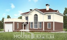 380-001-L Two Story House Plans with garage, luxury Construction Plans