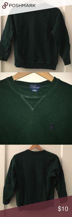 Ralph Lauren Forest Green Cotton Pullover Ralph Lauren cotton Pullover in dark forest green. In excellent condition. M size 12/14. Polo by Ralph Lauren Shirts & Tops Sweatshirts & Hoodies