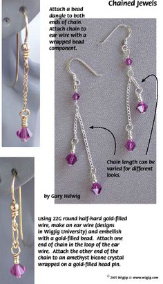 Chained Jewelery with Wire and Beads made with WigJig jewelry making tools and supplies.