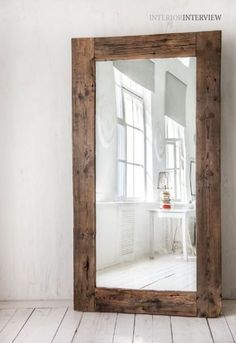 Marvelous Useful Ideas: Round Wall Mirror Inspiration wall mirror bedroom dressers. Wall Mirrors Entryway, Rustic Wall Mirrors, Mirror Wall Art, Living Room Mirrors, Wood Mirror, Diy Mirror, Vintage Mirrors, Sunburst Mirror, Large Wall Mirrors