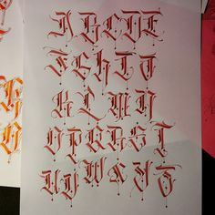 Calligraphy and Lettering tom.brunton@gmail.com