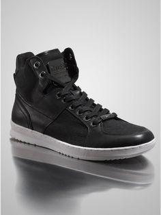 GUESS Trippy High-Top Sneaker, BLACK (7)