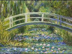 Monet Waterlilies Bridge (Part 1) Impressionist Acrylic Painting Tutorial LIVE - YouTube