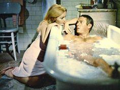 0 bath time - Steve McQueen and Tuesday Weld in The Cincinnati Kid (1965)