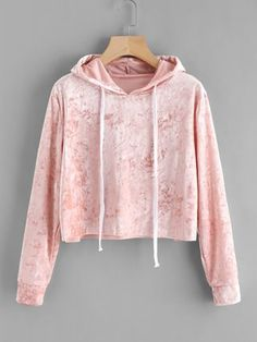 Cheap cropped hoodie, Buy Quality crop hoodies sweatshirts directly from China hoodies women Suppliers: Pink Velvet Hoodies Women Hood 2017 Autumn Sweatshirt Women Long Sleeve Cropped Hoodie Sweatshirt Jumper Pullover Female Komplette Outfits, Teen Fashion Outfits, Cute Casual Outfits, Women's Fashion, Fast Fashion, Fashion Styles, Fashion Online, Fashion Dresses, Crop Top Hoodie