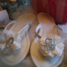 DIY wedding shoes but with turquoise and pink