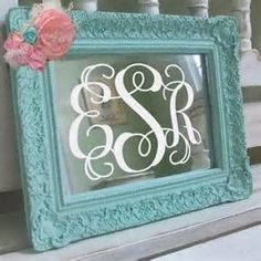 Turn a cute frame into a monogram www.SassySouthernMonograms.com