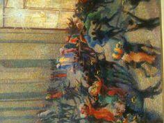 """Boccioni. """"Riot in the Gallery"""". Brera Art Museum, Milano Italy"""