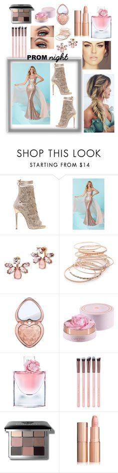 """Pretty Rose- Prom"" by sweetsugarbeads ❤ liked on Polyvore featuring Giuseppe Zanotti, Tiffany Designs, Marchesa, Red Camel, Too Faced Cosmetics, Lancôme and Bobbi Brown Cosmetics"
