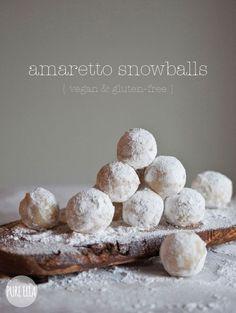 Amaretto Snowballs : gluten-free, vegan, quick no-bake dessert from Pure Ella