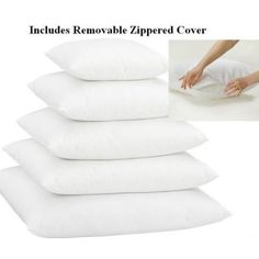 Poly-Pillow-Inserts-With-Zippered-Cover-Premium-Quality-Various-Sizes-1-or-2