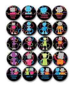 Robot Birthday Party Favors for Boys or Girls by PutOnYourPartyCap, $5.00