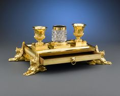 Objets d'Art, Provenance, Week's R T Museum Titchborne St'  Inkstand-- circa 1800--Believed this stand was designed by Charles Heathcote Tatham