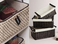 Baskets for Pantry Organization