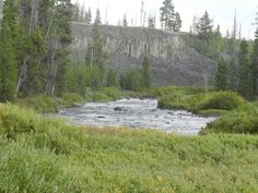 Gardner River at Sheepeater Cliff in Yellowstone 9/11/11