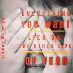 Everything you want lies on the other side of FearDon't dwell on the problem instead focus on the Solution. The Other Side, Everything, Inspirational, Instagram Posts, Inspiration