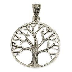 """Classic Tree of Life Pendant Sterling Silver 925 Size 1.1"""" Sacred Geometry #MAGAYA #Pendant"""