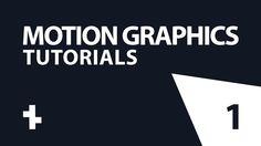 دروس في الموشن جرافيك   1   Motion Graphics