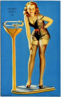 "Earl Moran - ""Figures don't lie"" Mutoscope Card"