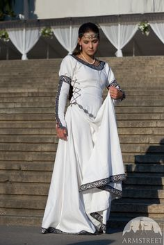 """20% OFF! Discounted Price! White Medieval Wedding Dress """"Chess Queen"""" by armstreet on Etsy https://www.etsy.com/listing/97326845/20-off-discounted-price-white-medieval"""
