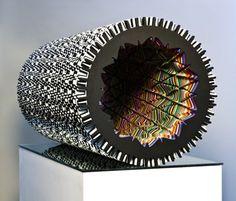Modern Art - Optical Illusions: Ara Peterson pics) - My Modern Metropolis 3d Optical Illusions, Whitney Museum, New York Art, Laser Cut Wood, Laser Cutting, Illusion Art, Museum Of Contemporary Art, Installation Art, American Art