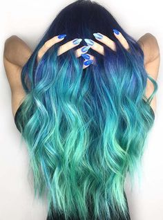 Amazing trends of dark and green ombre hair color ideas for women to sport in 2018. If you are searching for best hair colors to wear in these days then you must have to visit here to get the ideas of most sensational and modern green ombre hair colors and highlights. This is best way for attractive and cute looks.