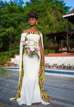 Ghanaian wedding dress styles for 2018 Styles de robe de mariage ghanéens pour 2018 African Wedding Theme, African Print Wedding Dress, African Wedding Attire, African Attire, Ghana Wedding Dress, Kenyan Wedding, African Traditional Wedding Dress, Traditional Wedding Attire, Long African Dresses