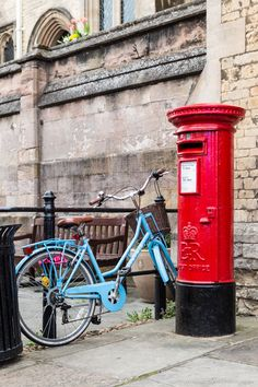 Red post box and a pretty blue bicycle in Stamford, Lincolnshire, England England Countryside, British Countryside, Stamford Lincolnshire, Stamford England, Lincolnshire England, Places Around The World, Travel Around The World, Uk Holidays, Weekend Breaks