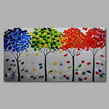 Hand-Painted Abstract Modern Oil Painting Canvas Deco Art Landscape Trees one Panels Modern Oil Painting, Online Painting, Projects To Try, Hand Painted, Landscape, Deco, Painting Canvas, Art, Sweet