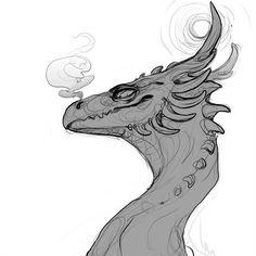 Darenrin on DeviantArt Animal Sketches, Animal Drawings, Art Sketches, Mythical Creatures Art, Magical Creatures, Dessin Old School, Dragon Anatomy, Dragon Sketch, Dragon Artwork