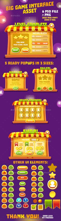 Fairytale Fair Cartoon GUI Asset - User Interfaces Game Assets