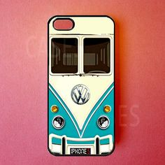 Iphone 5s Case - Iphone 5c Cases - VW Mini Bus Teal Iphone 5 Cover