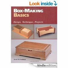 This book tells you how to make 15 different wooden boxes.  Freedman, David. Box-Making Basics. Newtown, CT: Taunton, 1997. Print.