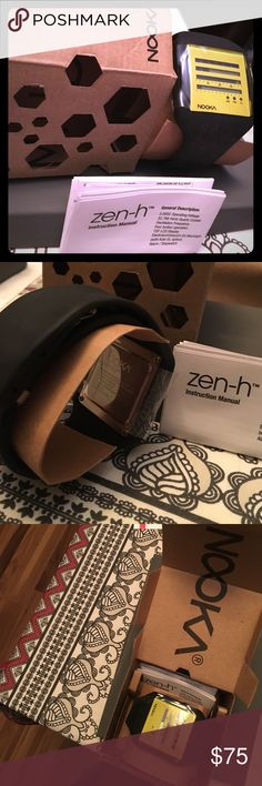 Men's Nooka Zen-h watch Resting on a 20mm polyurethane band, the Zub Zen-H displays time in Nooka's own unique way. On the top two rows the Zen-H shows the current hours, while in the third row it displays minutes and the fourth row features the seconds. The Zen-H also features both an alarm and a chronograph mode. Accessories Watches