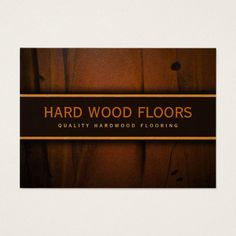 wooden floors hardwood flooring wood business card - Flooring Business Cards