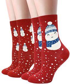 LITTONE Women's Cozy Cotton Animal Design Crew Socks 2 Pairs