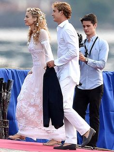 Beatrice Borromeo and Pierre Casiraghi on Friday
