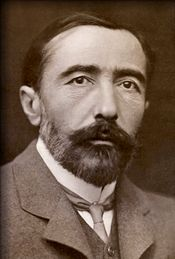 Joseph Conrad (1857-1924)    Bored with school and too argumentative for a tutor, Joseph Conrad turned to the sea for his education. He served 16 years in the British navy and went on to become a master storyteller. His novel Heart of Darkness remains critical literature in the story of good versus evil.