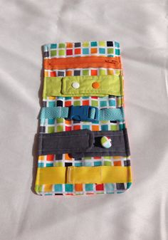 Busy blanket  a buckle snap zip Velcro and by TheLittlestLearners, $25.00