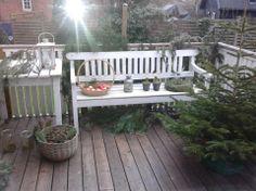 Julehygge på terrassen.