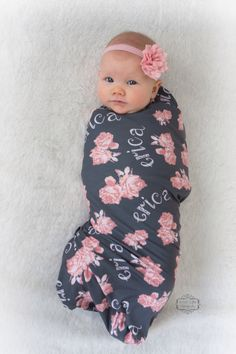 Hipster baby names for girls organic baby organic and hipster personalized baby name blanket printed swaddle vintage floral by audreysbear on etsy https negle Gallery