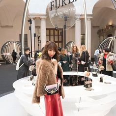 Stunning @nyanchan22 discovers the Furla FW17 collection at our #bubbleoftime event, sporting a special preview of the #furla90anniversary Metropolis capsule collection ✨  #furlafeeling #fashionweek #MFW17 #harunakojima