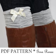 Boot Cuff and Leg Warmer Sewing Pattern. Womens Boot sock and Legwarmers PDF Sewing Pattern