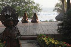 morning yoga in bali.