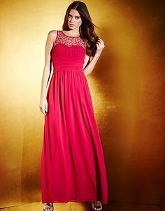 Little Mistress Embellished Neck Maxi Dress Lipsy, Hair Beauty, Clothes For Women, Formal Dresses, Mistress, Wedding, Beautiful, Collection, Color