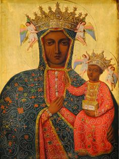 Our Lady of Częstochowa, Queen of Poland. Crowing Angels!