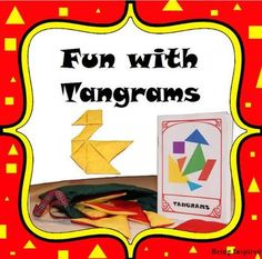 Here's a set of materials for working with tangrams. Includes templates to make tangram shapes, directions for use, brain teasers and a booklet with 12 tangram puzzles and solutions.